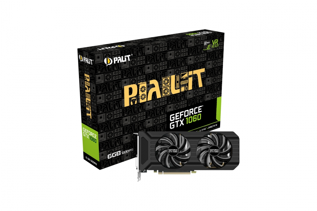 Placa Video Palit GeForce GTX 1060 Dual 6GB GDDR5 192 biti