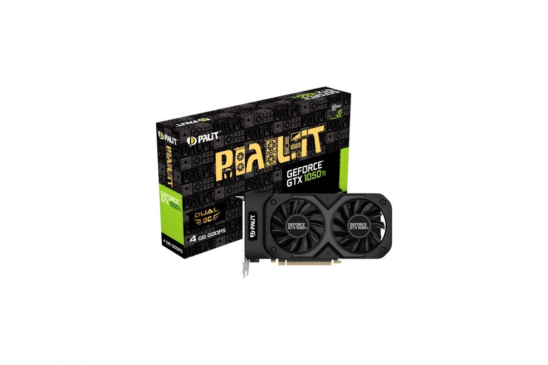Placa Video Palit GeForce GTX 1050Ti Dual OC 4GB GDDR5 128 biti