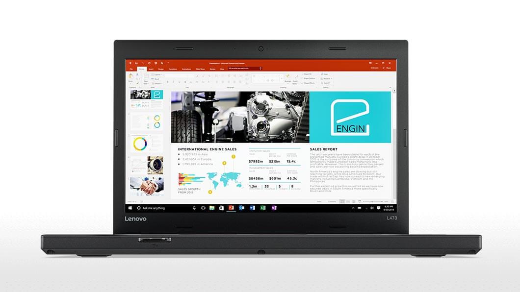 Notebook Lenovo ThinkPad L470 14 Full HD Intel Core i7-7500U R5 M430-2GB RAM 8GB HDD 1TB Windows 10 Pro