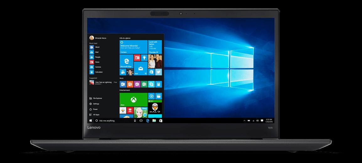 Notebook Lenovo ThinkPad T570 15.6 Full HD Intel Core i7-7500U RAM 8GB SSD 256GB Windows 10 Pro