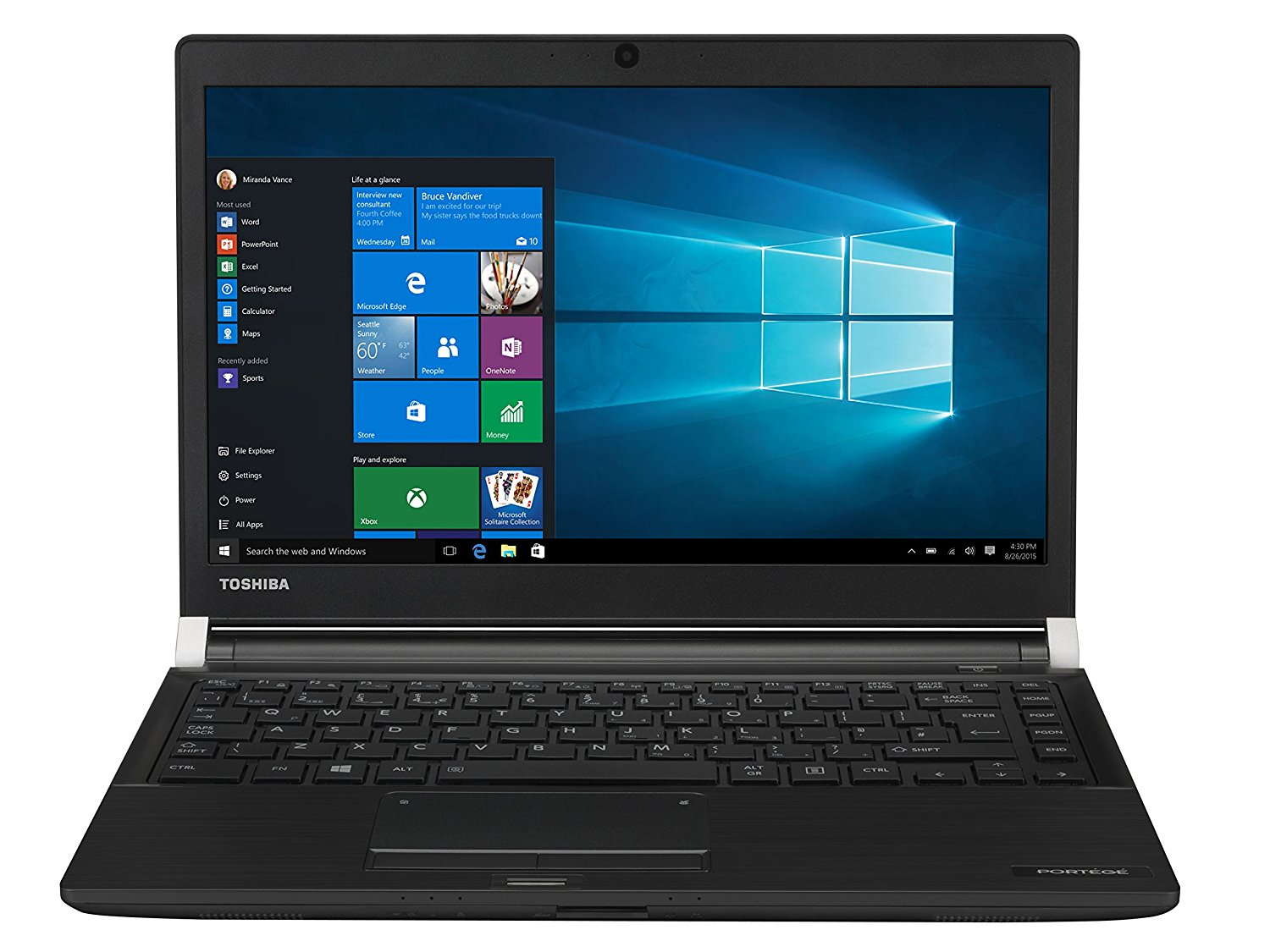 Notebook Toshiba Portege A30-C-1CW 13.3 Full HD Intel Core i5-6200U RAM 8GB SSD 256GB Windows 10 Pro