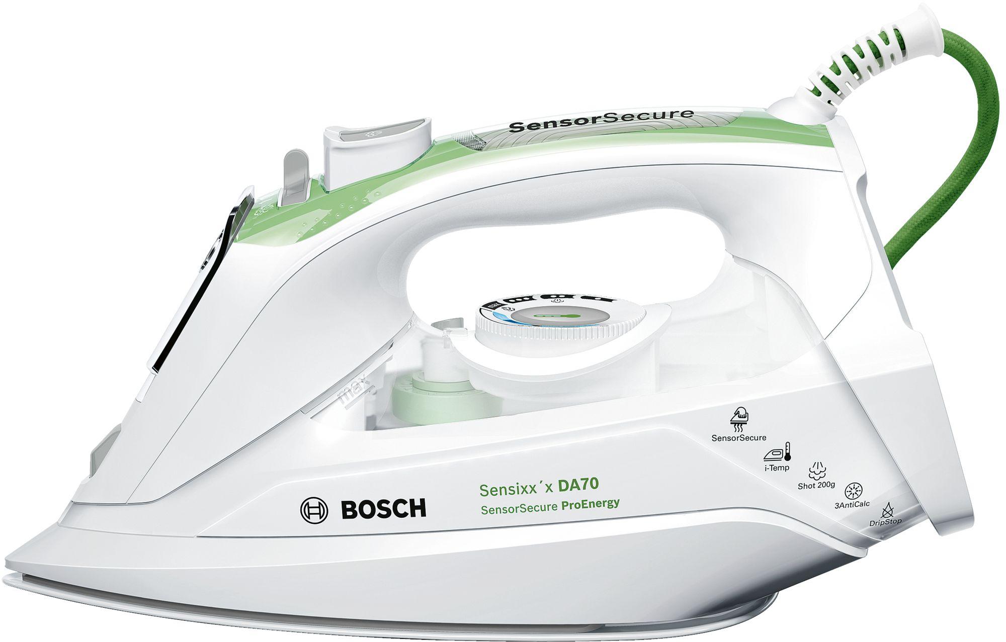 Fier de calcat Bosch Sensixx'x DA70 ProEnergy 2400W Capacitate 380ml Alb/Verde