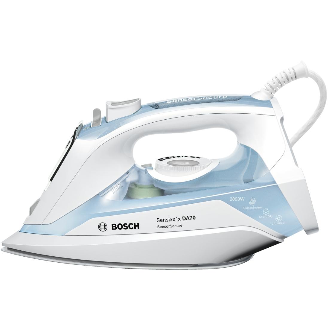Fier de calcat Bosch Sensixxx DA70 SensorSecure TDA7028210 2800W Capacitate 380ml Alb/Albastru