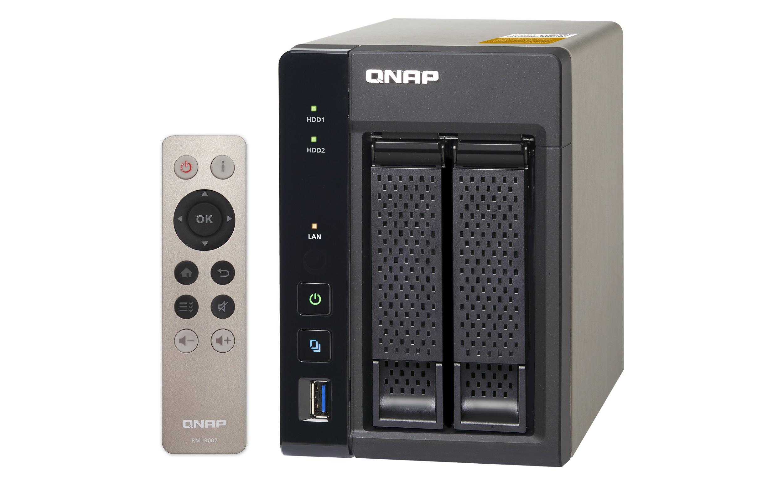 NAS Qnap TS-253A-4G 2-bay 2xGigabit fara HDD-uri