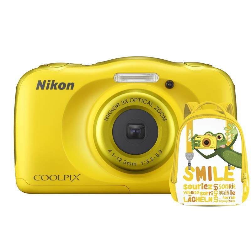 Aparat Foto Compact Nikon COOLPIX WATERPROOF W100 Backpack Kit Galben