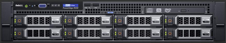 Server Dell PowerEdge R530 Intel Xeon E5-2620 v4 16GB RAM 120GB SSD 750W Dual Hot Plug