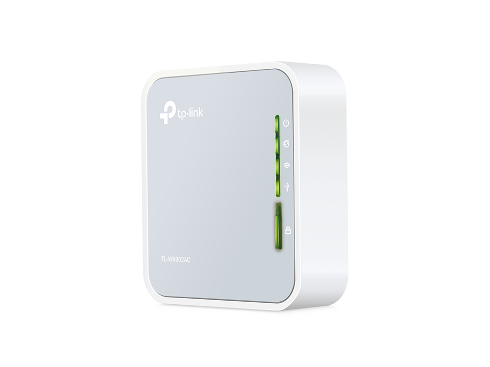 Router Tp-Link TL-WR902AC portabil 1xWAN/LAN: 100Mbps 1xUSB: 3G/4G WiFi: 802.11ac-750Mbps