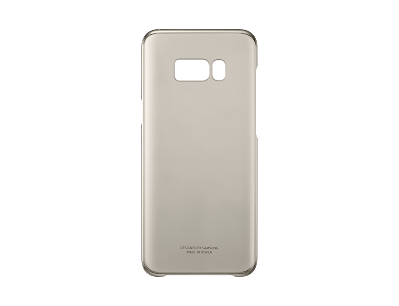 Capac protectie Clear Cover Samsung EF-QG955 pentru Galaxy S8 Plus G955 Auriu