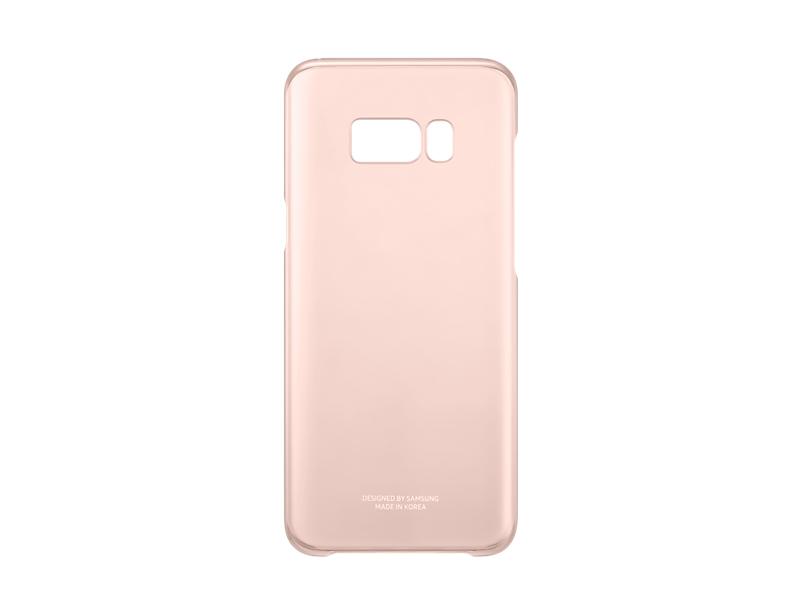 Capac protectie Clear Cover Samsung EF-QG955 pentru Galaxy S8 Plus G955 Roz