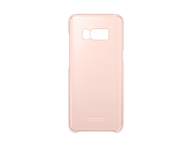 Capac protectie Clear Cover Samsung EF-QG950 pentru Galaxy S8 G950 Roz
