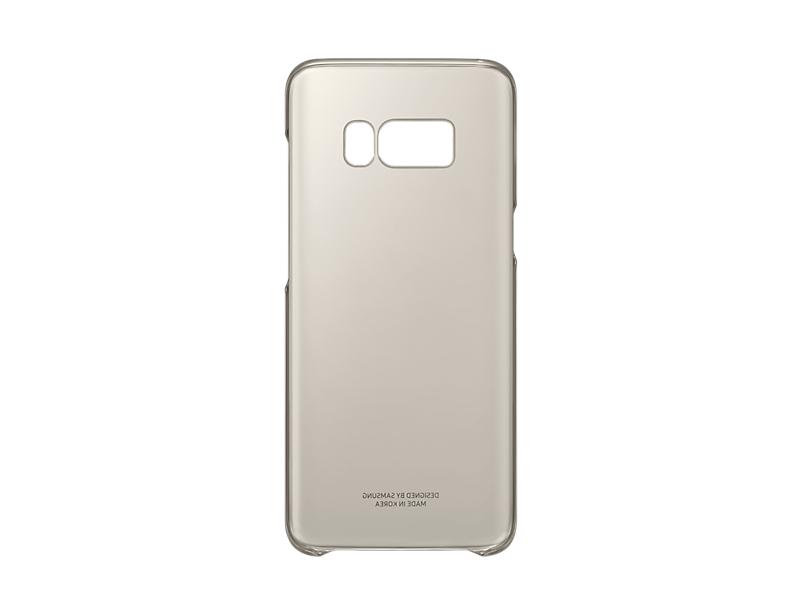 Capac protectie Clear Cover Samsung EF-QG950 pentru Galaxy S8 G950 Auriu