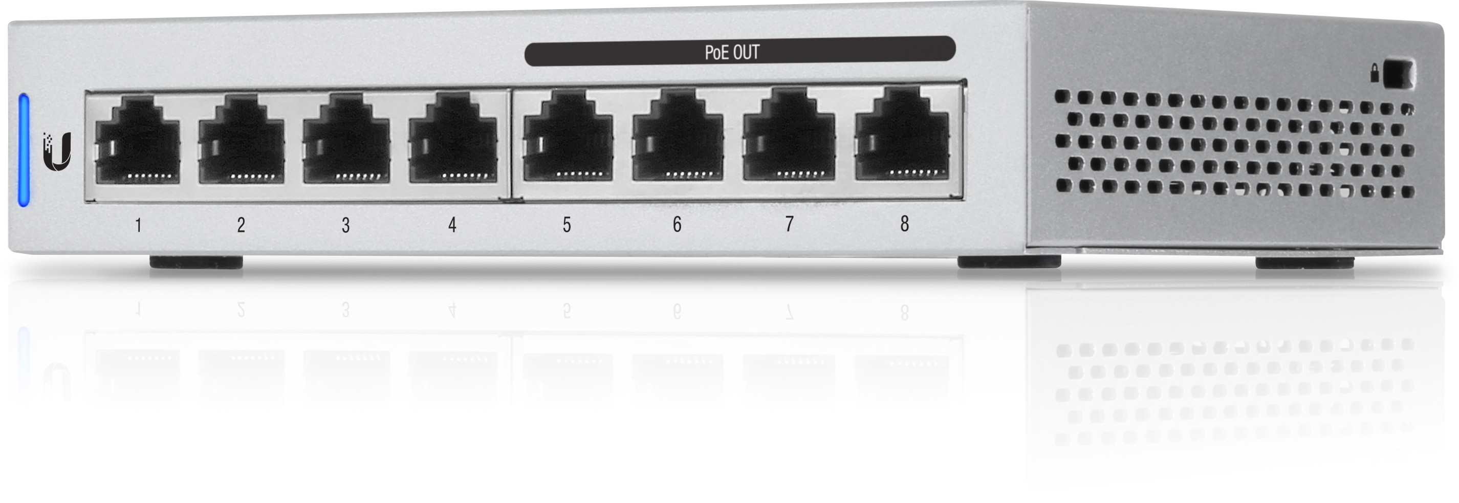 Switch Ubiquiti US-8-60W cu management cu PoE 8x1000Mbps-RJ45