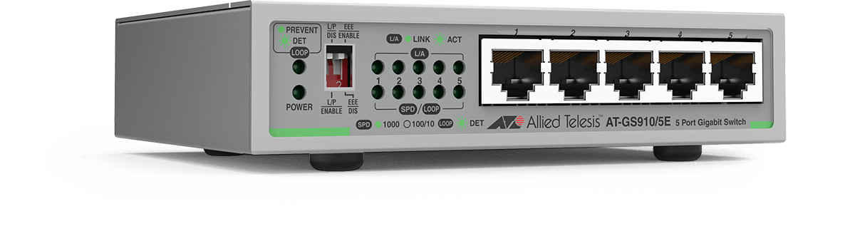 Switch Allied Telesis AT-GS910/5E fara management fara PoE 5x1000Mbps-RJ45