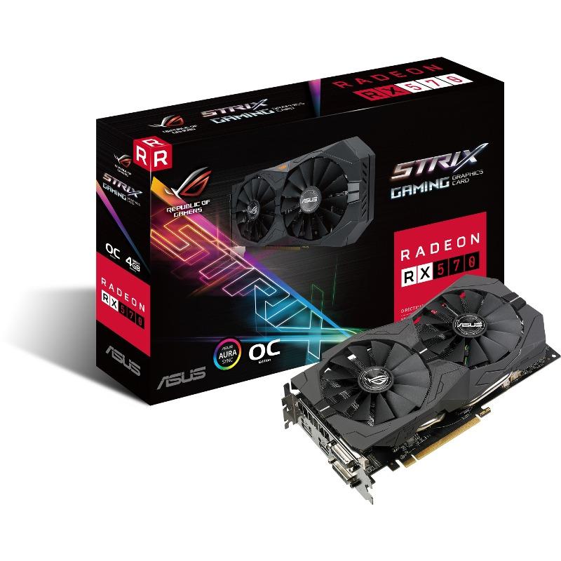 Placa Video ASUS AMD ROG Strix RX 570 OC Gaming 4GB GDDR5 256 biti