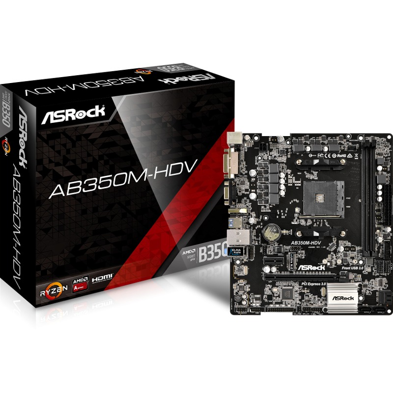 Placa de baza ASRock AB350M-HDV socket AM4