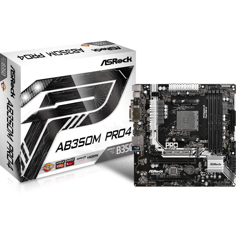 Placa de baza ASRock AB350M PRO4 socket AM4