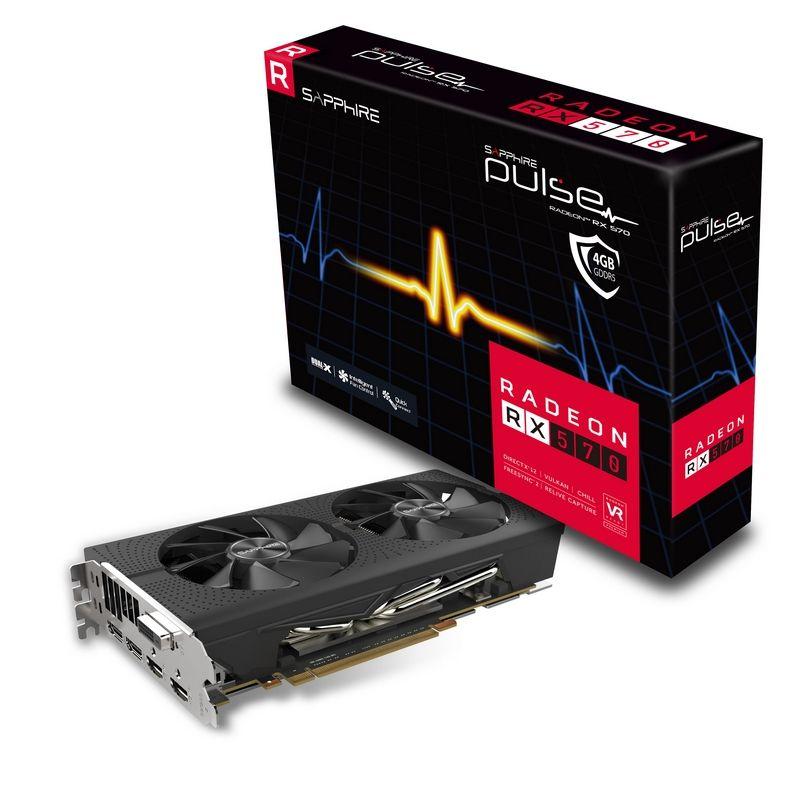Placa Video Sapphire Radeon PULSE RX 570 4GB GDDR5 256 biti