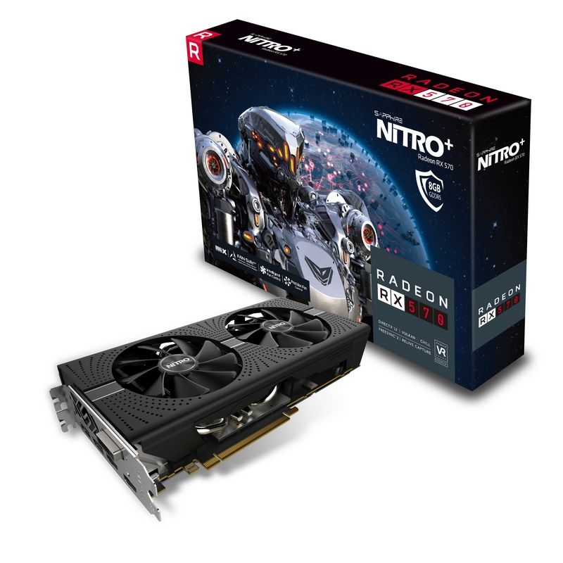 Placa Video Sapphire Radeon NITRO+ RX 570 8GB GDDR5 256 biti