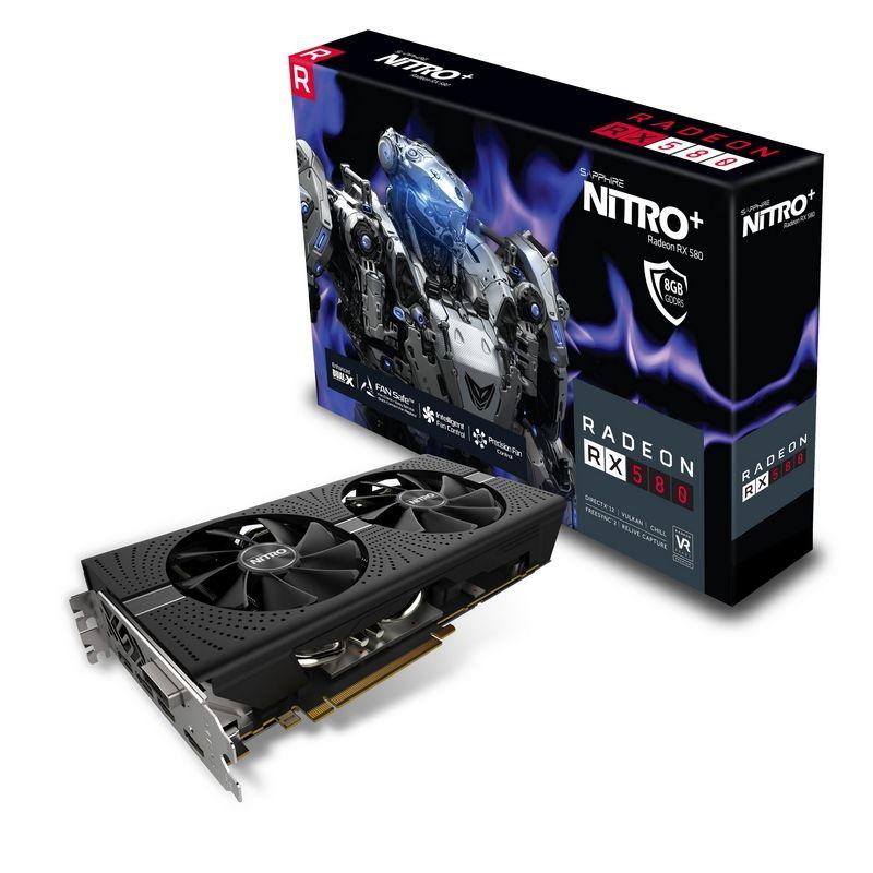 Placa Video Sapphire Radeon NITRO+ RX 580 8GB GDDR5 256 biti