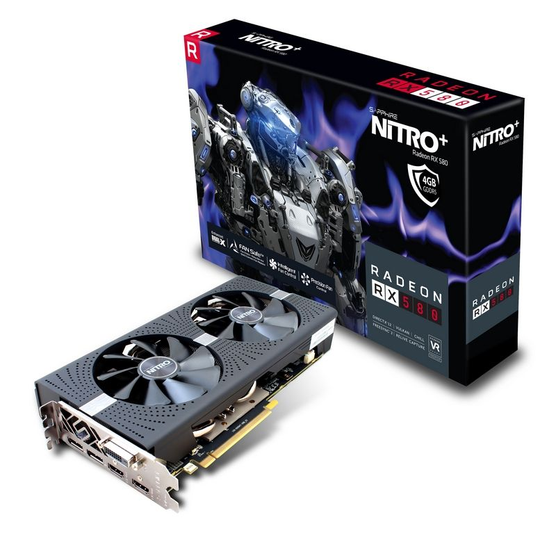 Placa Video Sapphire Radeon NITRO+ RX 580 4GB GDDR5 256 biti