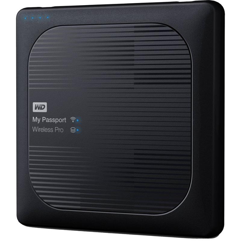 Hard Disk Extern Western Digital My Passport Wireless Pro 1TB USB 3.0 Black