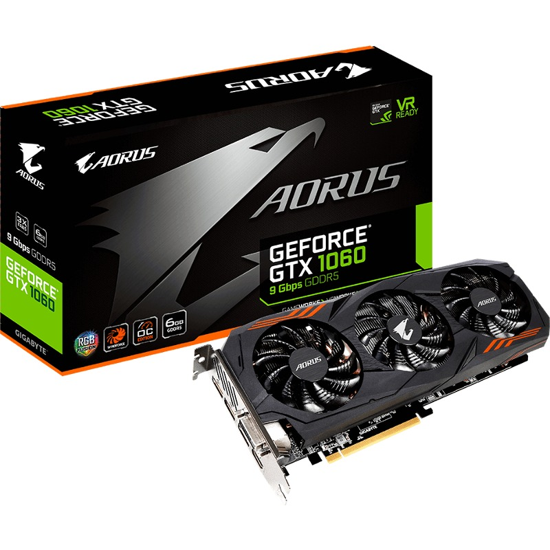 Placa Video Gigabyte AORUS GeForce GTX 1060 6GB GDDR5 192 biti
