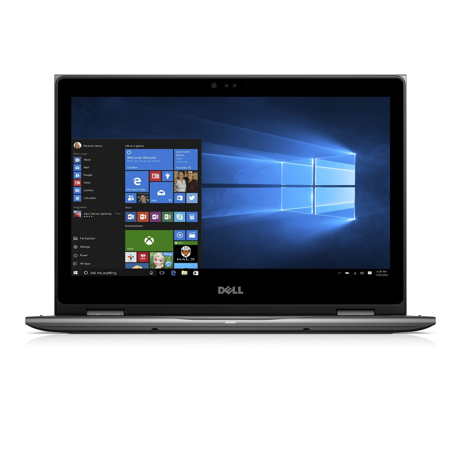 Ultrabook Dell Inspiron 5378 13.3 Full HD Touch Intel Core i3-7100U RAM 4GB HDD 1TB Windows 10 Home Gri