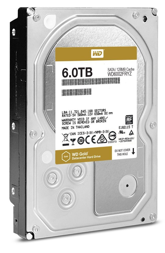 Hard Disk Server Western Digital Gold 6TB 3.5 SATA3 128MB Cache