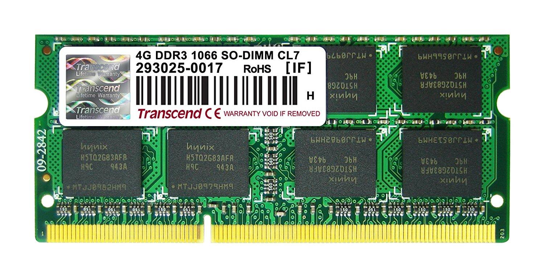 Memorie Notebook Transcend TS4GAP1066S 4GB DDR3 1066MHz CL7