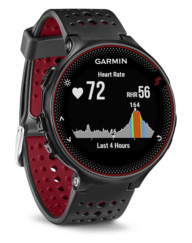 Smartwatch Garmin Forerunner 235 Negru/Rosu
