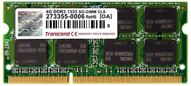 Memorie Notebook Transcend TS4GAP1333S 4GB DDR3 1333MHz CL9