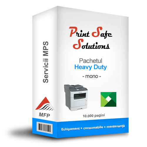 Serviciu MPS Print Safe Solutions Heavy-Duty MFP A4 monocrom