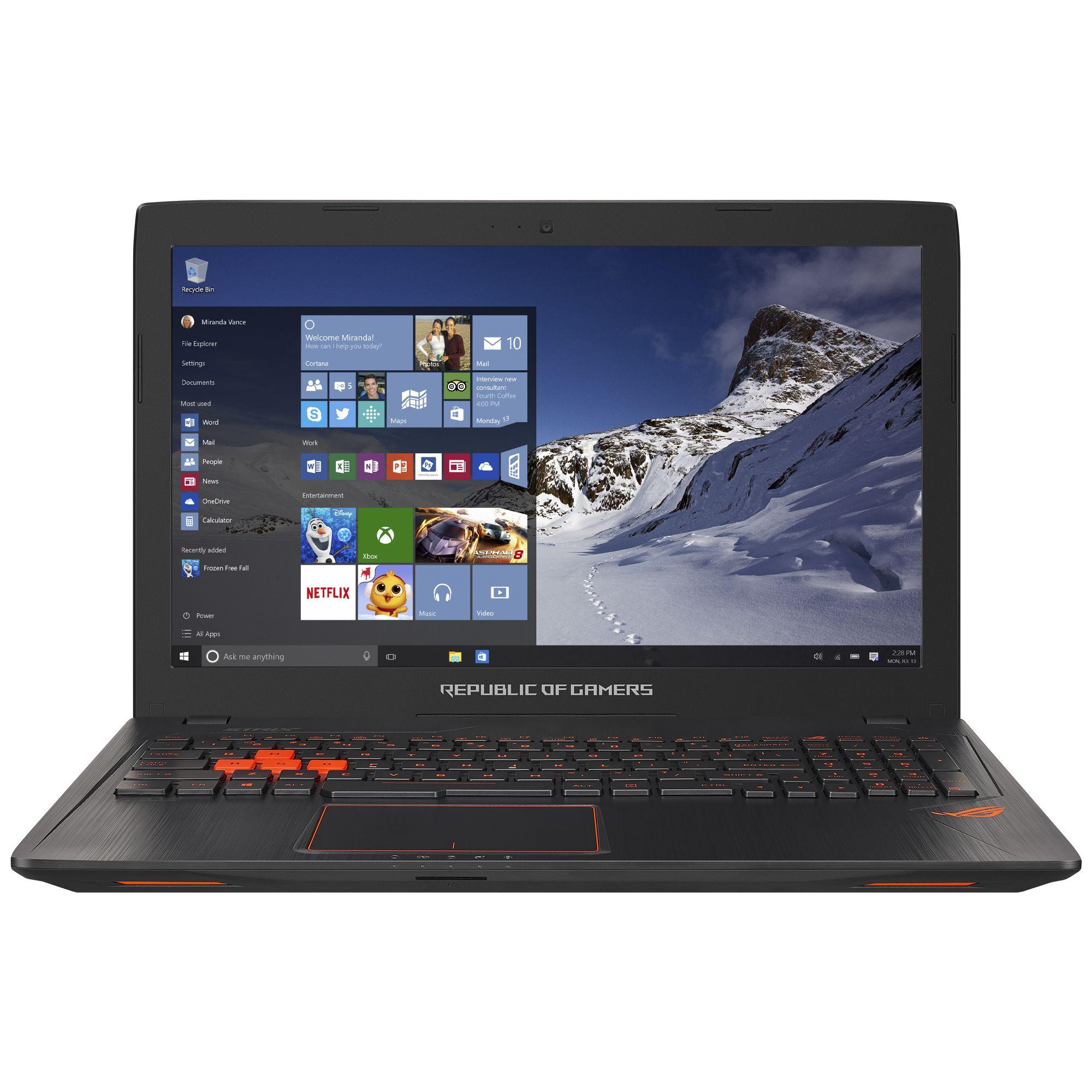 Notebook Asus ROG GL553VD 15.6 Full HD Intel Core i7-7700HQ GTX 1050-4GB RAM 8GB HDD 1TB FreeDOS