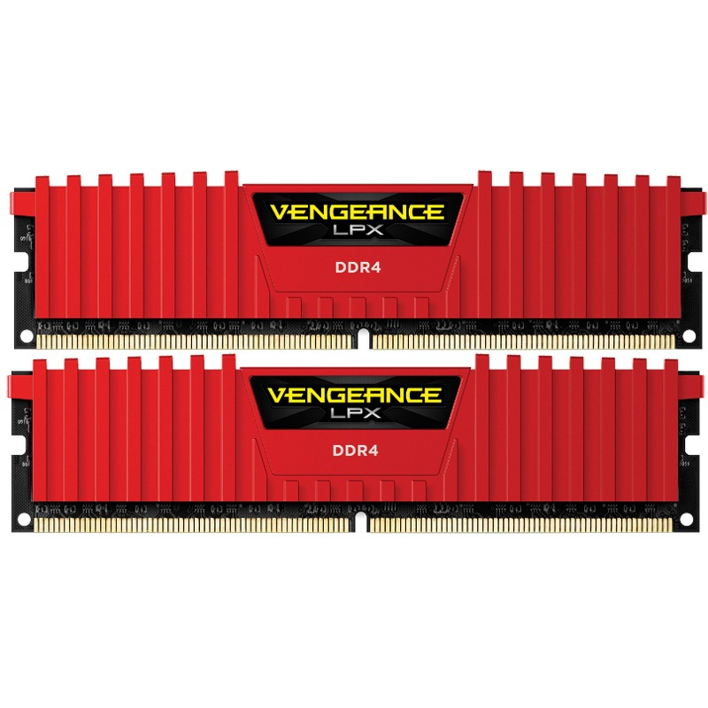 Memorie Desktop Corsair Vengeance LPX 8GB(2 x 4GB) DDR4 3000MHz Red
