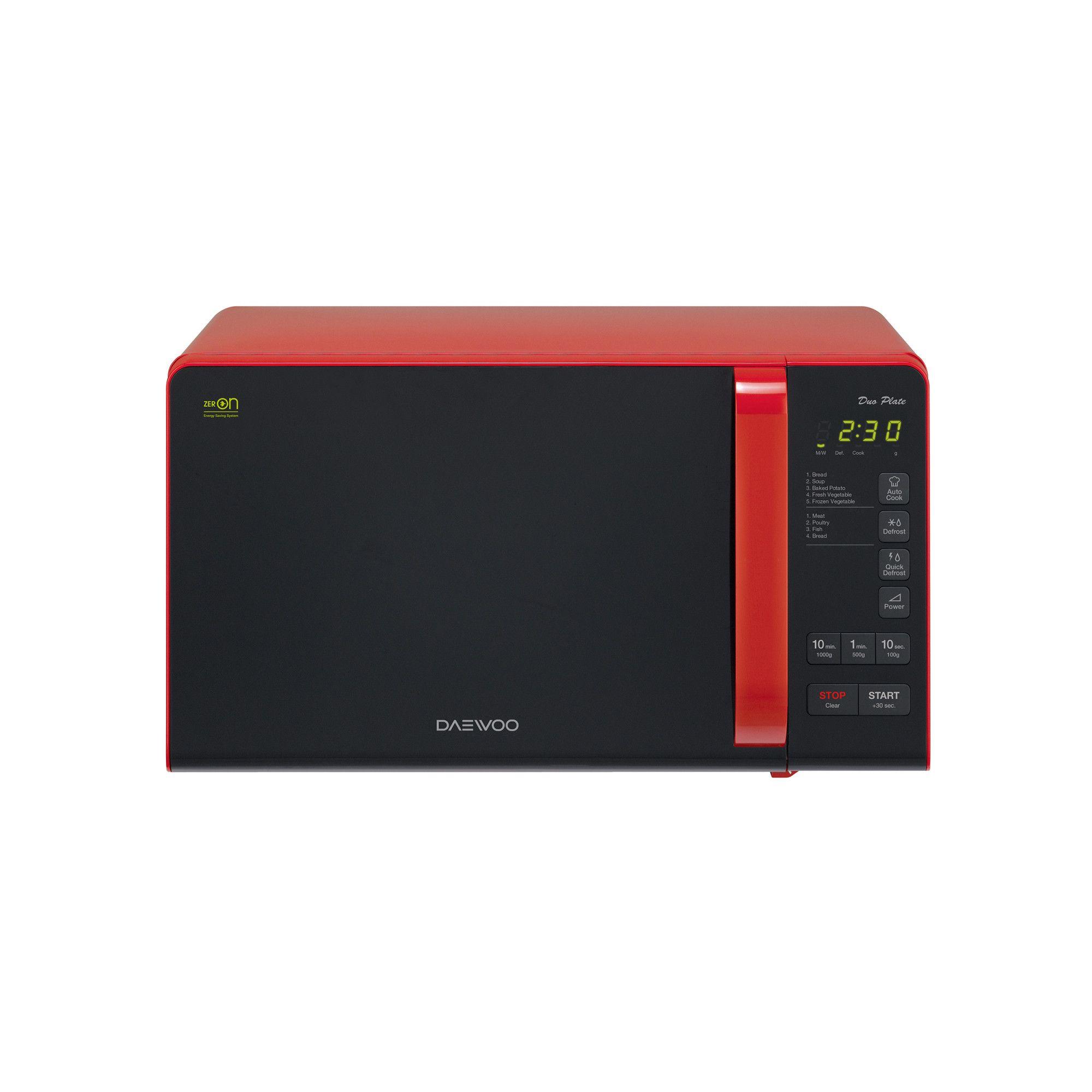 Cuptor cu microunde Daewoo KOR-6S3DBR 800W 20L Digital Rosu
