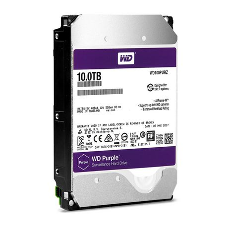 Hard Disk Desktop Western Digital WD Purple Surveillance 10TB 5400RPM SATA3 256MB