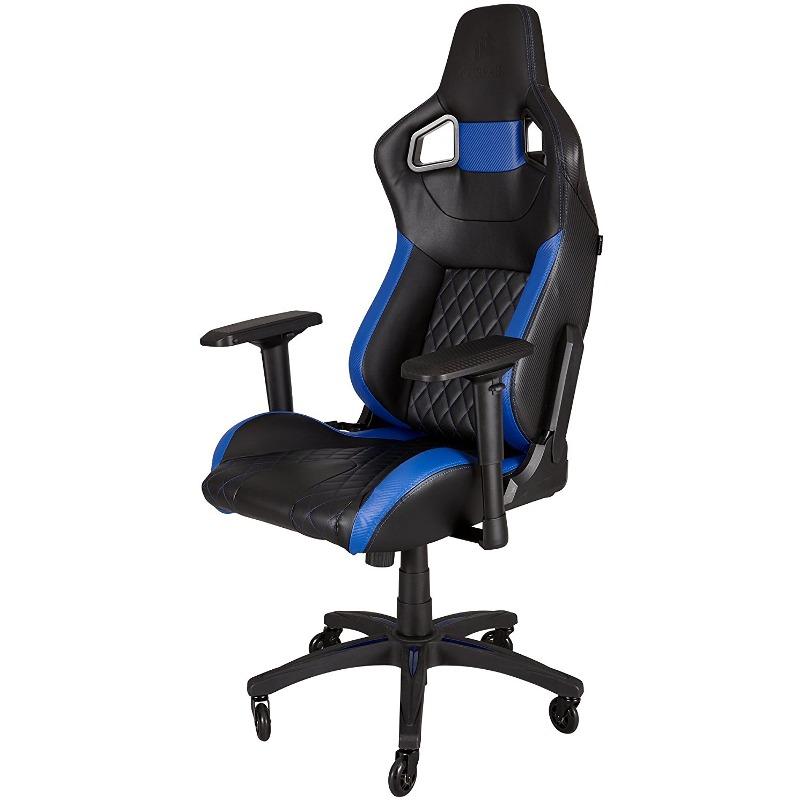Scaun Gaming Corsair T1 RACE Negru/Albastru