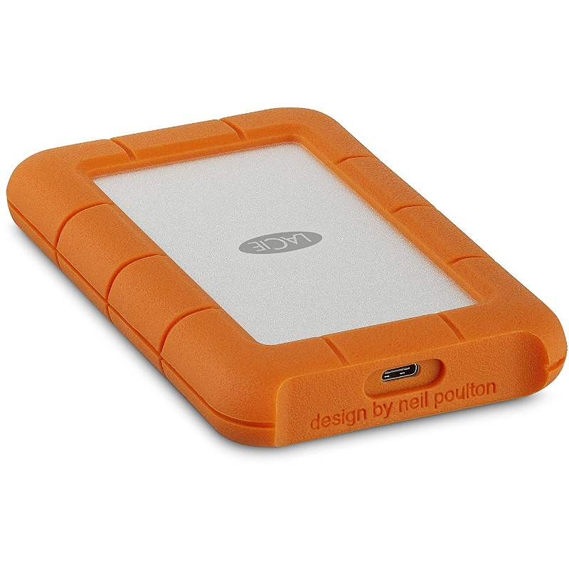 Hard Disk Extern LaCie Rugged 2TB USB-C 2.5 Orange