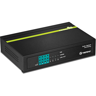 Switch TRENDnet TPE-TG44g 8x1000Mbps-RJ45 fara management cu PoE