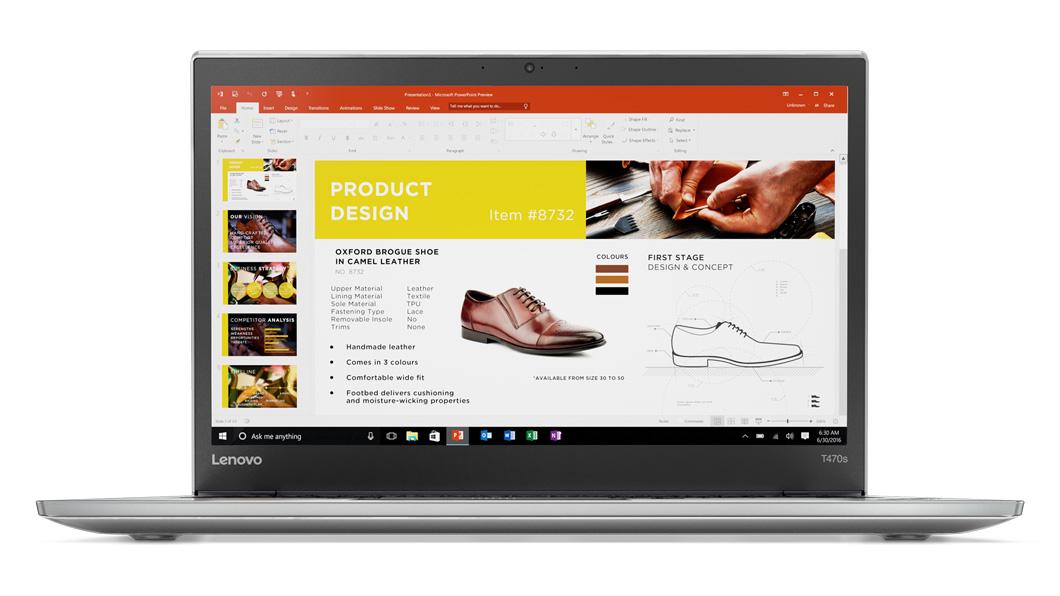 Ultrabook Lenovo ThinkPad T470s 14 Full HD Intel Core i7-7500U RAM 16GB SSD 512GB 4G Windows 10 Pro Argintiu