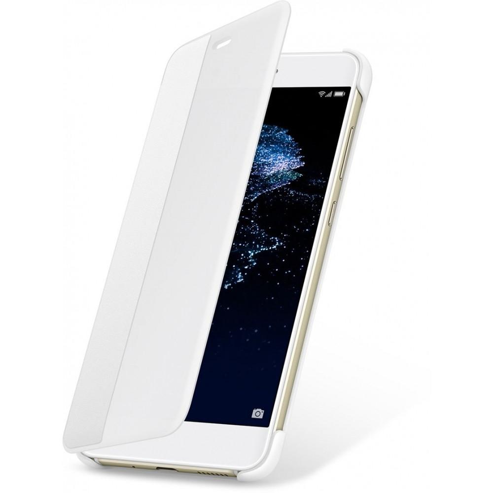 Husa Flip Smart View Cover pentru Huawei P10 Lite Alb