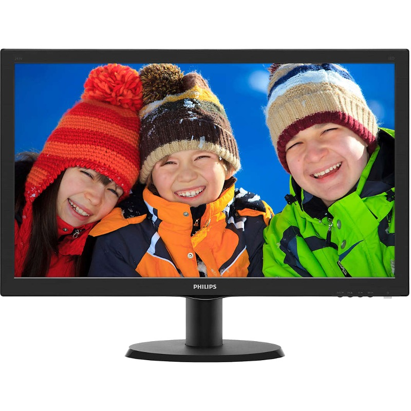 Monitor LED Philips 243V5LHAB5 23.6 5ms Full HD Negru