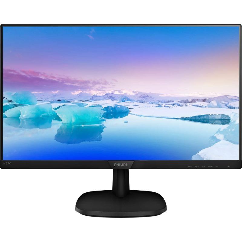 Monitor LED Philips 243V7QDSB 23.8 5ms Full HD Negru