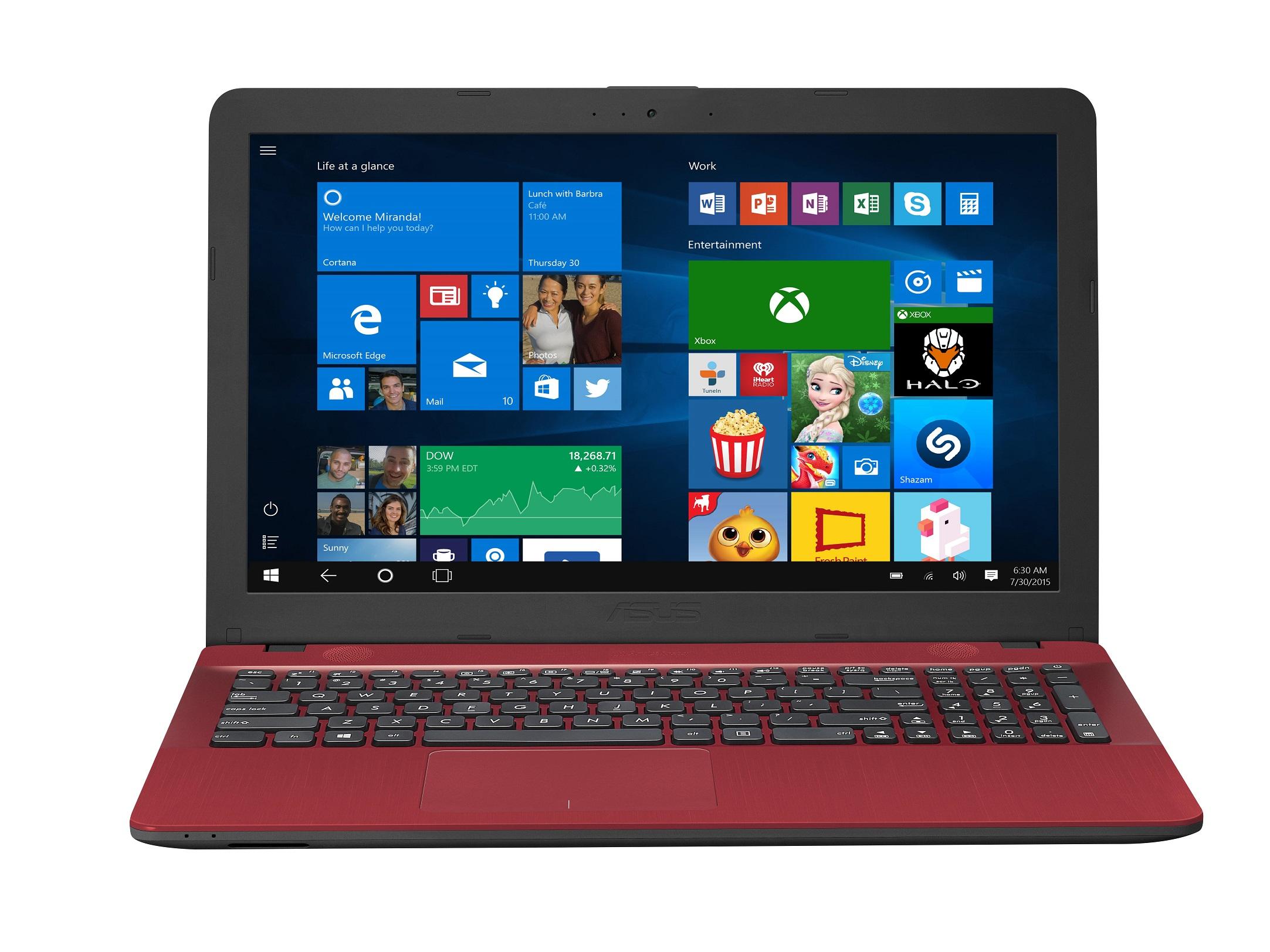 Notebook Asus X541NA 15.6 HD Intel Celeron N3350 RAM 4GB HDD 500GB Endless OS Rosu
