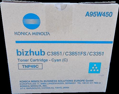 Cartus Toner Cyan Konica Minolta TNP-49C 12K