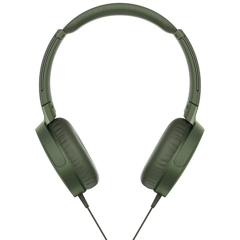 Casti Sony MDR-XB550AP Extra BASS Verde