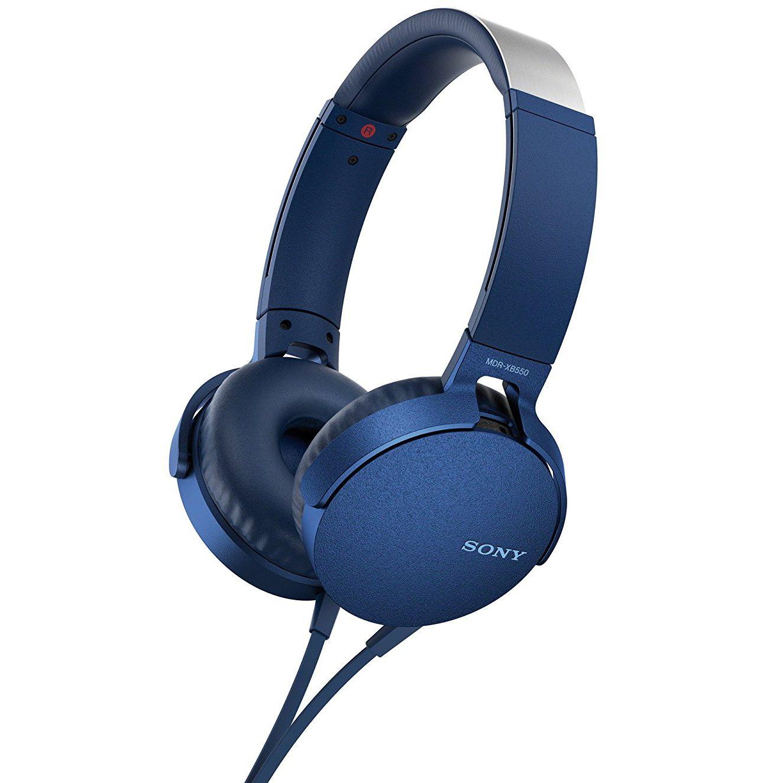 Casti Sony MDR-XB550AP Extra BASS Albastru