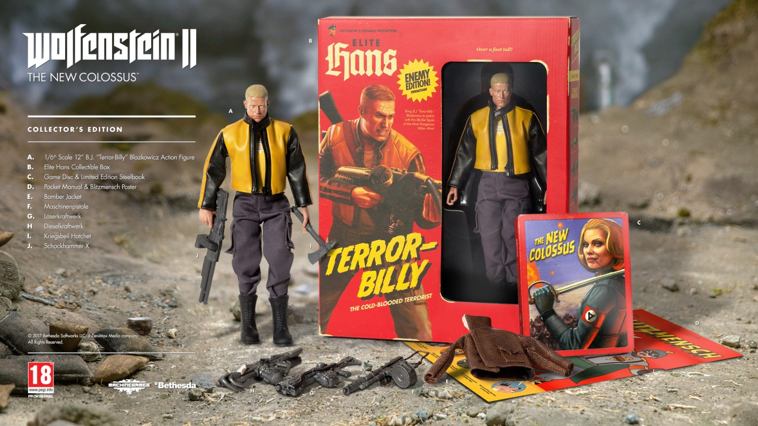 Wolfenstein 2 The New Colossus Collectors Edition - PS4