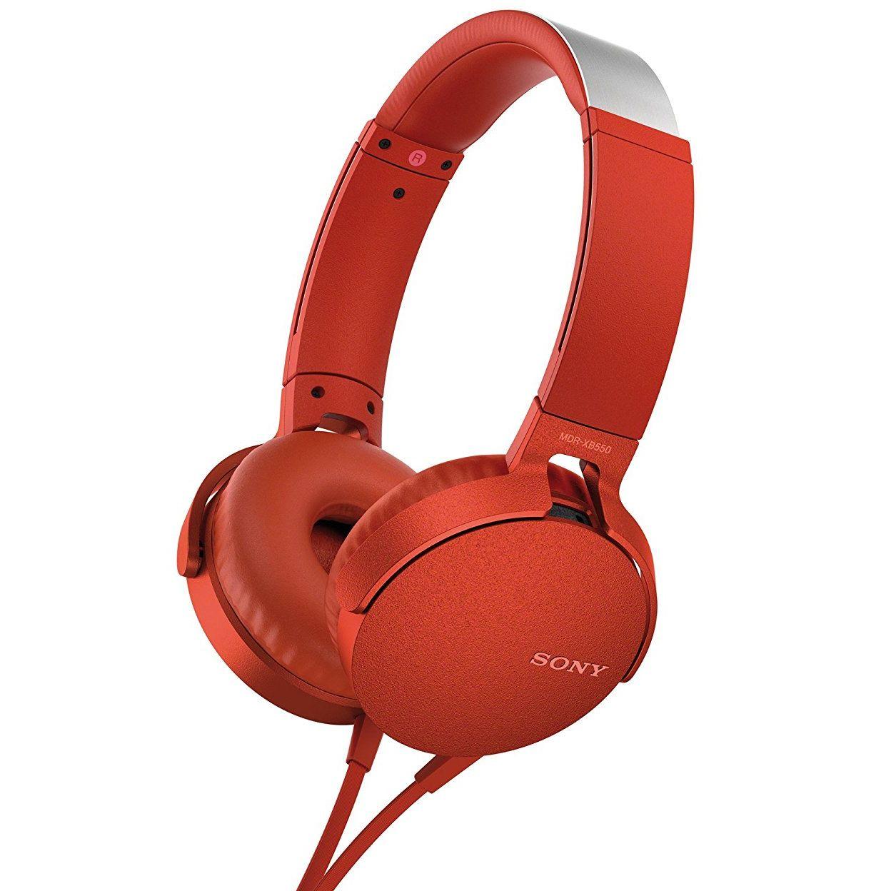 Casti Sony MDR-XB550AP Extra BASS Rosu