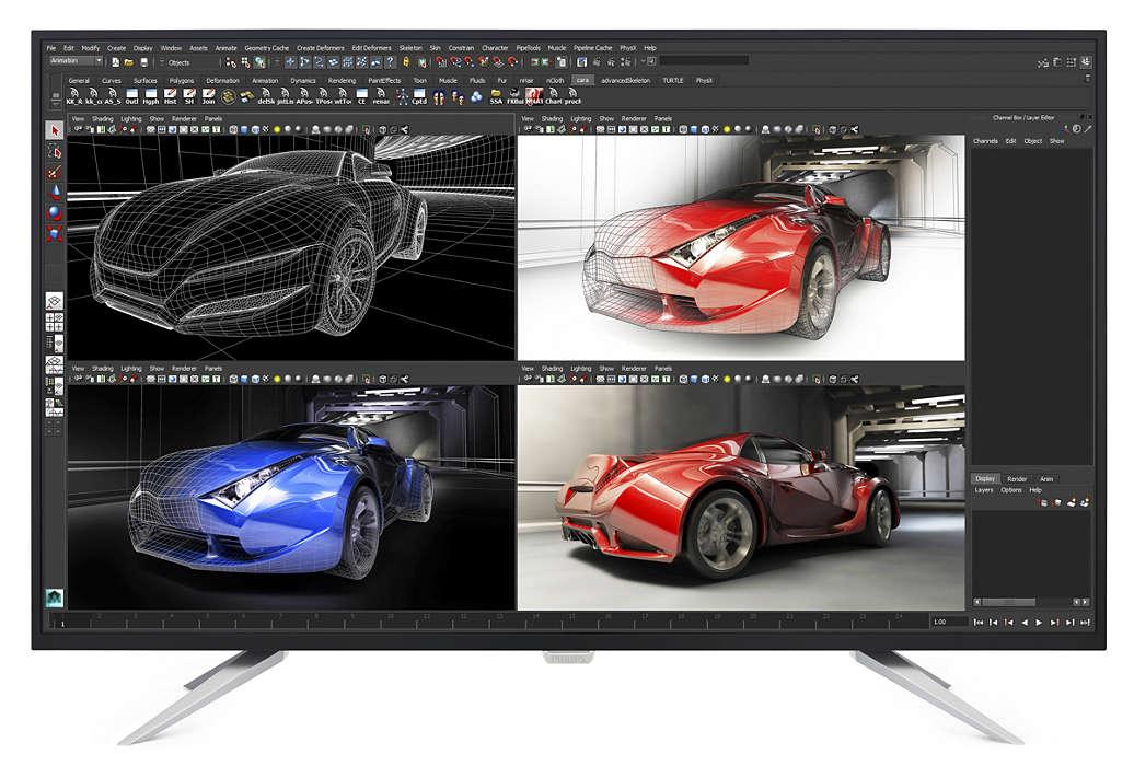 Monitor LED Philips BDM4350UC 42.5 5ms 4K Ultra HD Negru